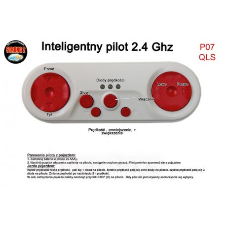 Pilot zdalnego sterowania w technologii 2.4 Ghz do pojazdów QLS-8588 i innych