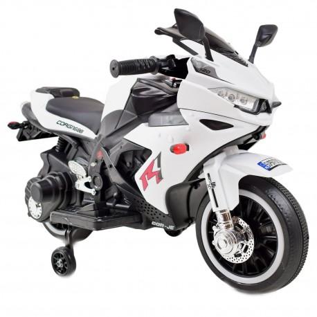 MOTOR ŚCIGACZ POWER 2 SILNIKI, ŚWIECĄCE KOŁA, MIĘKKIE SIEDZENIE - PIERWSZY MOTOREK DLA DZIECKA